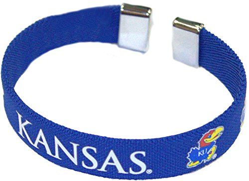NCAA Officially Licensed Kansas Jayhawks Ribbon Bracelet