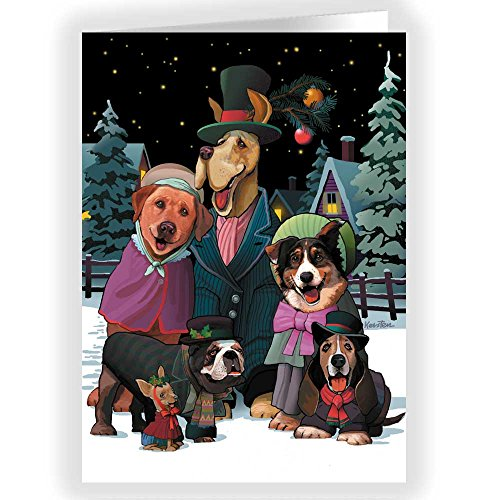 Dog Choir Holiday Card 18 Cards & Envelopes - Dog Theme Boxed Christmas ()