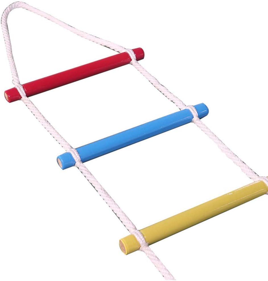 FIREDOPE Escalera de Cuerda de Escape de Emergencia, Niños subiendo Escalera de Cuerda, Escalada al Aire Libre Escalera de Cuerda Patio de Juegos: Amazon.es: Hogar