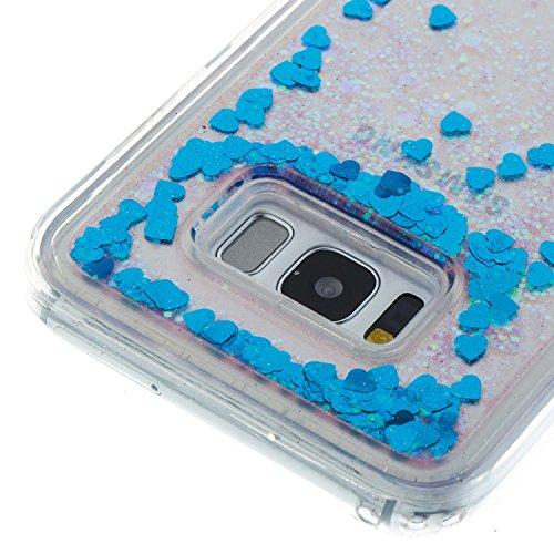 JIALUN-Personality teléfono shell Para Samsung Galaxy S8 Plus, Elegante Caja Protectora Líquida Flotante y Ligera Soft TPU Absorción de Amortiguación Contraportada Seguridad y Moda ( Color : G ) B