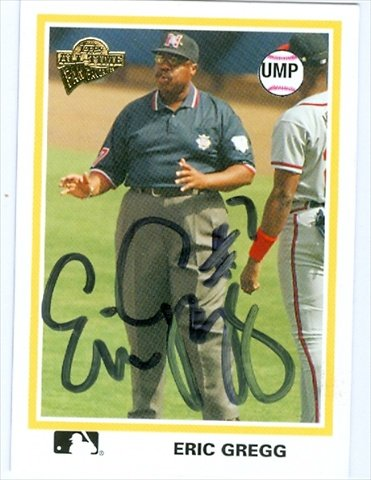 Autograph Warehouse 34889 Eric Gregg Autographed Baseball Card 2004 Topps Archives No. 97 National League Umpire