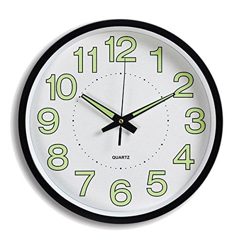 Liveinu Night Light Wall Clock,Night Glow Clock Silent Non T
