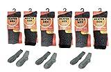 6 Pair Mens Heated Thermal Work Boot Socks Winter Gear Anti-Bacterial Treated Moisture Control Ski Snow School Warm