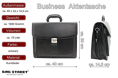Aktentasche Notebook Business Tasche Bag Aktenmappe Laptop Businesstasche Messenger Schultertasche