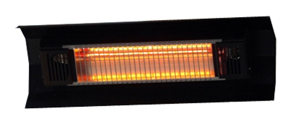 Fire Sense Indoor/Outdoor Wall-Mount Infrared Heater, Black