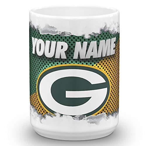 Green Bay Packers Color Blast Custom Personalized Name Football Coffee Mug Gift (15oz)]()