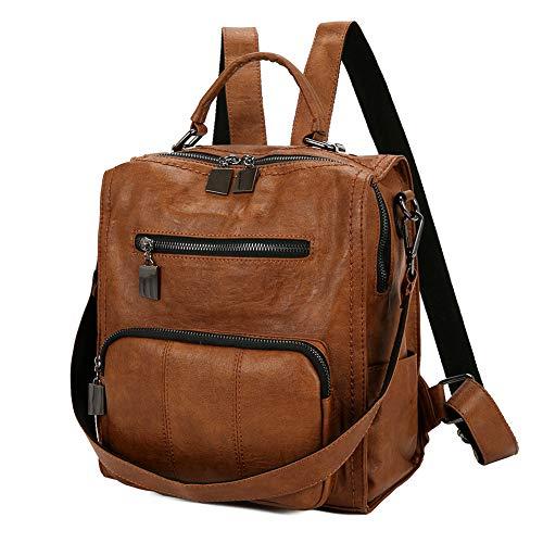 Mynos Women Backpack Purse Leather Handbag Bag Ladies Rucksack Travel Tote Shoulder Bag ()