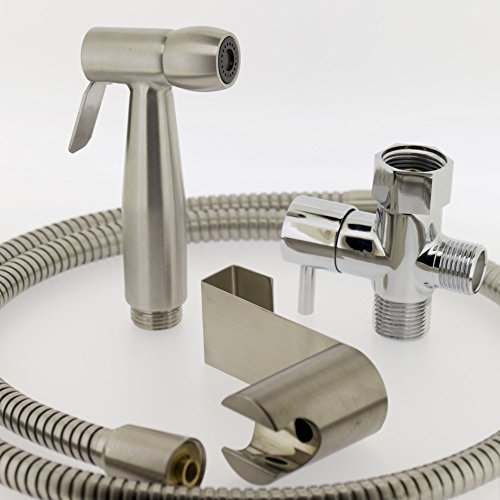 Luxe Spray Bidet Attachment Handheld Kit All Metal Hose and Adapter good