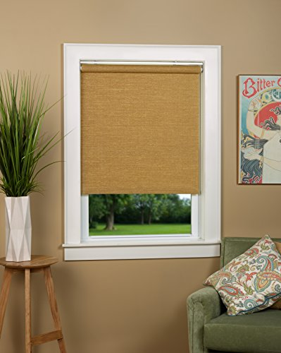 Natural Woven Cordless Spring Roller Shade - Size 26