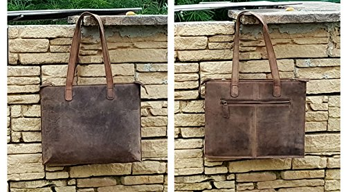 Slim for Handle ~ Dark ~ Ladies Purse Handbag Women Top Leather Tote PURPLE Taupe RELIC Distressed xqwT8W0qt
