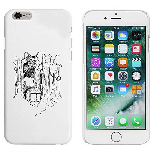 Weiß 'Hütte im Wald' Hülle für iPhone 6 u. 6s (MC00033494)