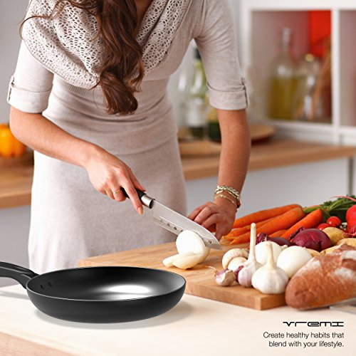 Vremi 15 Piece Nonstick Cookware Set; 2 Saucepans and 2 Dutch Ovens with Glass Lids, 2 Fry Pans and 5 Nonstick Cooking Utensils; Oven Safe by Vremi (Image #3)