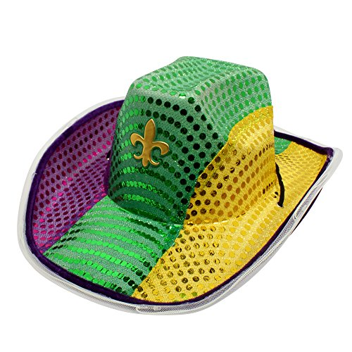 Windy City Novelties Light-up Mardi Gras Cowboy -