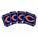 NFL Chicago Bears Ceramic Coasters-Pack of 4, Blue