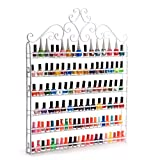 Dazone Mounted 6 Tier DIY Nail Polish Wall Rack Organizer Holds 120 Bottles Nail Polish or Essential Oils (White)