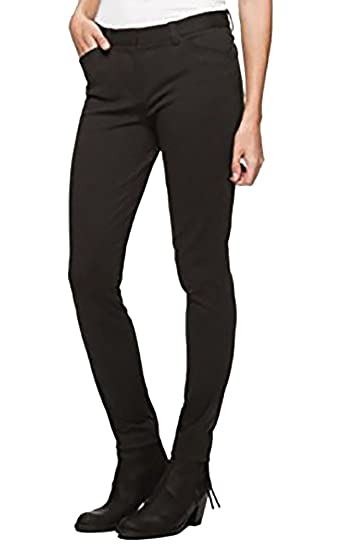 01f0387d83 Andrew Marc Women's Black/Charcoal Ponte Pants Stretch 2 at Amazon ...