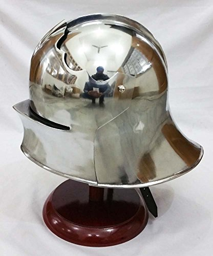 Vintage Armour Store Medieval German Sallet Helmet European Close Helmet Collectible Costume Wearable Helm
