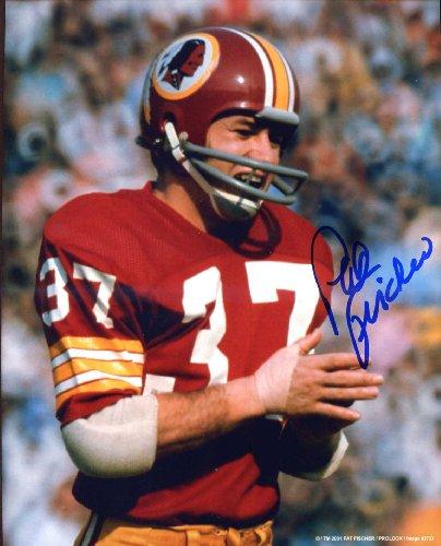 Pat Fischer Autographed /Original Signed 8x10 Color Photo Showing Him w/ the Washington Redskins by Original...