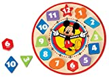 Toys : Melissa & Doug Disney Mickey Mouse Wooden Shape Sorting Clock
