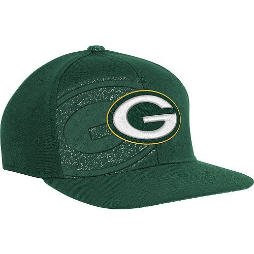 - Green Bay Packers NFL Reebok Sideline Flat Visor Logo Hat Cap Flex Fitted S/M