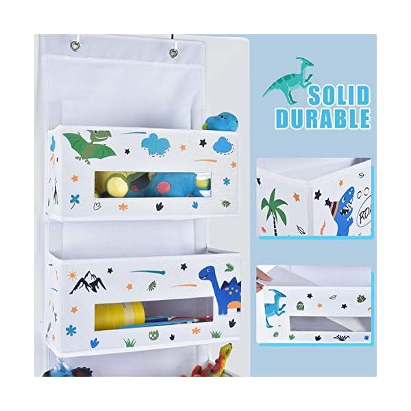51cAjzZQ8CL Hängender Organizer - 4 Taschen Wandhalterung Hanging Organizer für Baby Kinder Mädchen Junge (Dschungeltier)