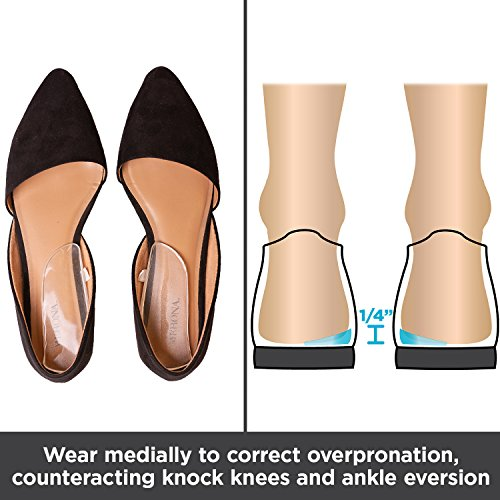 5e7fd3552f5 BraceAbility Medial   Lateral Heel Wedge Silicone Insoles - Import It All