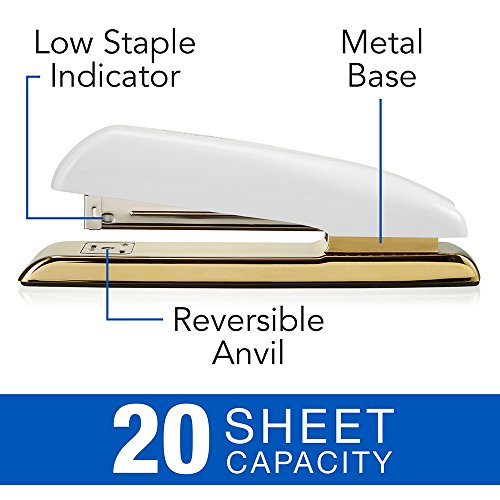 Swingline Stapler White & Gold Desktop Stapler (64701)