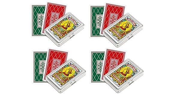 Outletdelocio. Pack de 4. Baraja española Fournier. 40 Cartas. En Estuche de plástico: Amazon.es: Juguetes y juegos