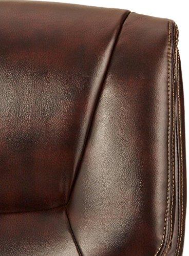 AmazonBasics High-Back Executive Swivel Chair - Brown with Pewter Finish by AmazonBasics (Image #6)