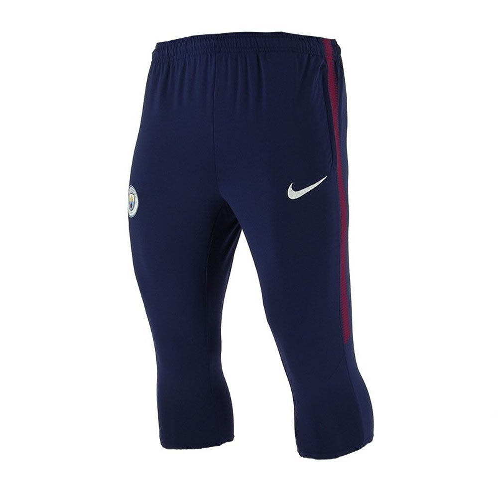 2017-2018 Man City Nike Three Quarter Length Training Pants (Navy) B0059YEZM6