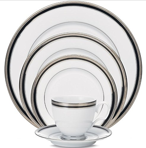 China Kitchen Austin: Noritake Austin Platinum 50-Piece Dinnerware Set, Service