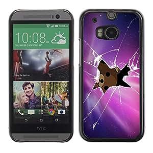 A-type Arte & diseño plástico duro Fundas Cover Cubre Hard Case Cover para All New HTC One (M8) ( Pedobear Echar un vistazo )