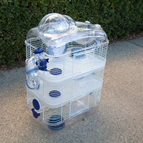 4 Level Sparkle Hamster Mice Mouse Cage with Large Top Exercise Ball 25