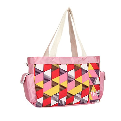 Kangming multifunción bebé pañal bolso cambiador portátil gran capacidad momia bolso amarillo amarillo rosa