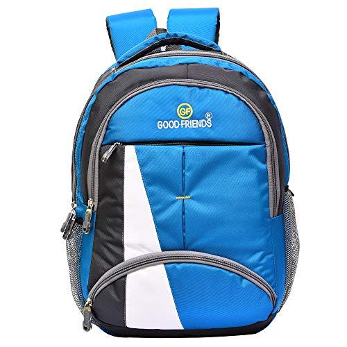 Good Friends Waterproof Polyester Light Blue School/college/Laptop Backpack