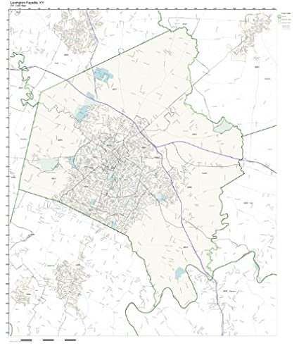 Amazon Com Zip Code Wall Map Of Lexington Fayette Ky Zip Code Map