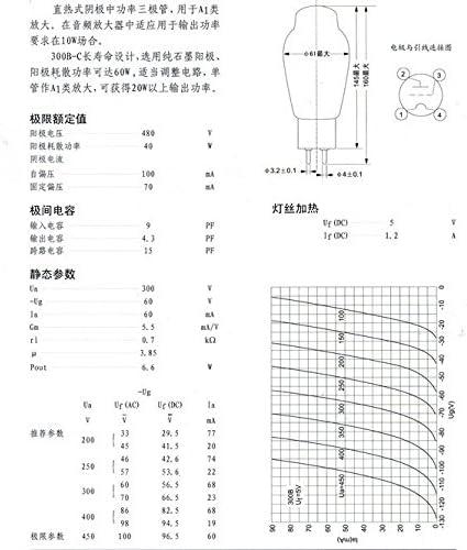 2PCS 1 Matched PAIR  Shuguang Treasure 300B-Z hifi Vacuum Tube Replace 300B