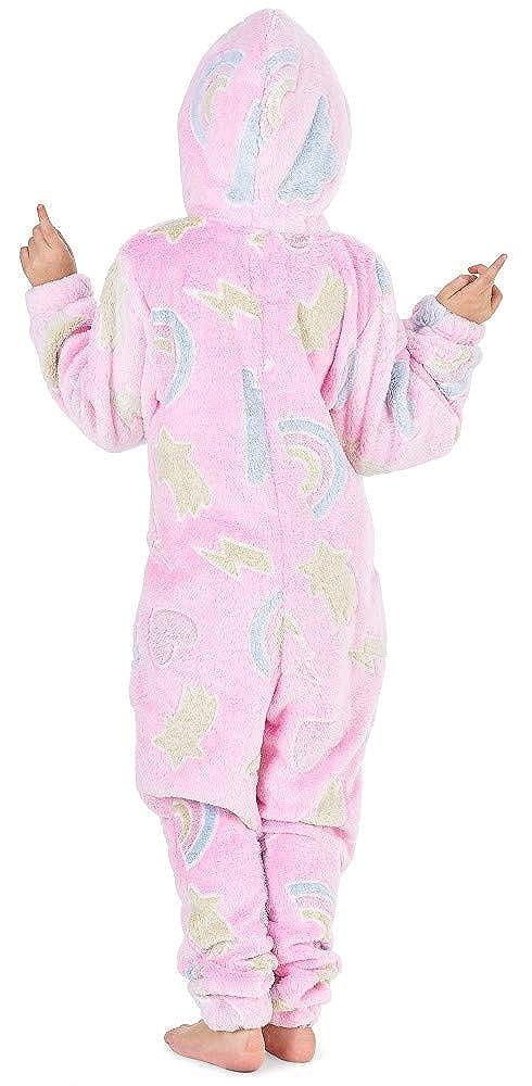 e2834af8ca20c CityComfort Combinaison Pyjama Enfant Fille Onesie Licorne S   Allume dans  Le Noir Arc en Ciel Grenouillere ...