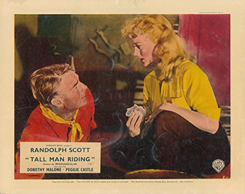 Tall Man Riding original lobby card Randolph Scott Dorothy Malone Silverscreen