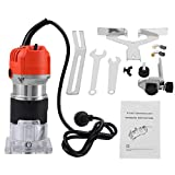 110V 30000R/MIN 580W Electric Hand Wood Trimmer Laminator Router Woodworking Tool Set