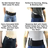 Concealed-Carry-Belly-Band-Gun-Holster-Neoprene-Black-Fits-Gun-Smith-and-Wesson-Bodyguard-Glock-19-17-42-43-P238-Ruger-LCP-and-Similar-Sized-Guns-For-Men-and-Women