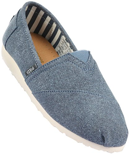 Paperplanes-1196 Unisex Moda Casual Low Top Easy Slip-ons Scarpe 1197-navy