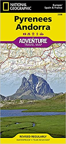 Pyrenees and Andorra National Geographic Adventure Map National