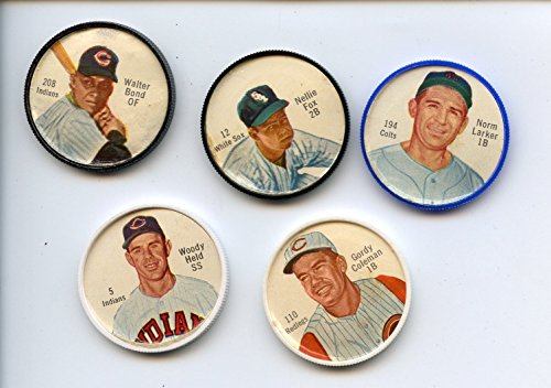 1962 Salada Baseball Coin Lot 5 Different (Salada Baseball Coins)