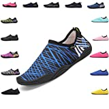 Sherry Love Barefoot Water Shoes Quick Dry Aqua Socks Surf Pool Yoga Beach Swim Exercise for Mens and Womens-Blue38
