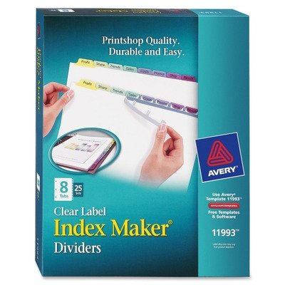 AVE11993 - Avery Index Maker Clear Label Contemporary Color Dividers