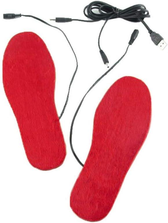 DALIN 1 par de almohadillas para zapatos con calefacción USB, unisex, para deportes al aire libre, para esquí y uso reciclado.