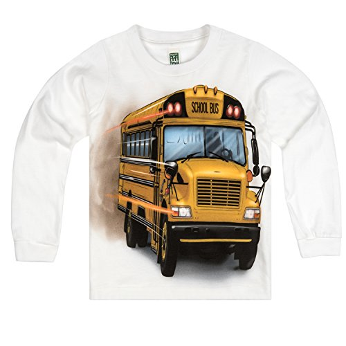 Shirts That Go Little Boys' Long Sleeve Big Yellow School Bus T-Shirt 2 White (Tee Toddler School)