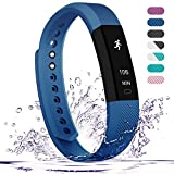 Fitness Tracker - Teslasz Bluetooth 4.0 Sleep Monitor Calorie Counter Pedometer Sport Activity Tracker for Android and IOS Smart Phone - Blue