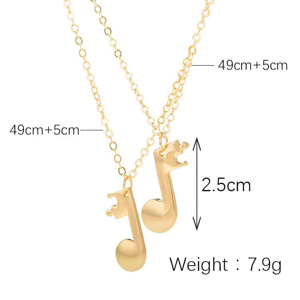 EFINNY 2PCS//Set Music Note Pendant Necklaces